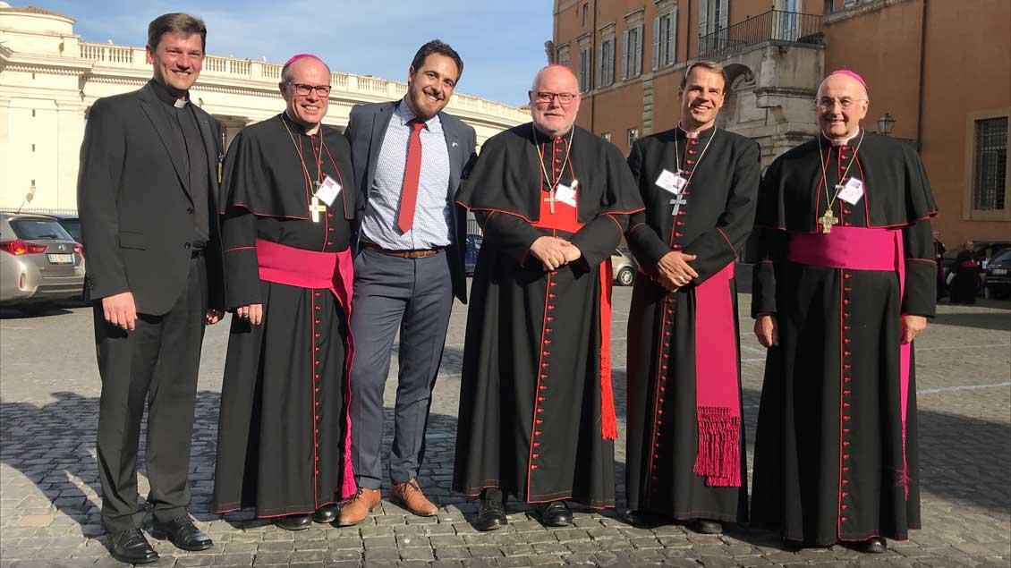 Die deutschen Synodenteilnehmer.