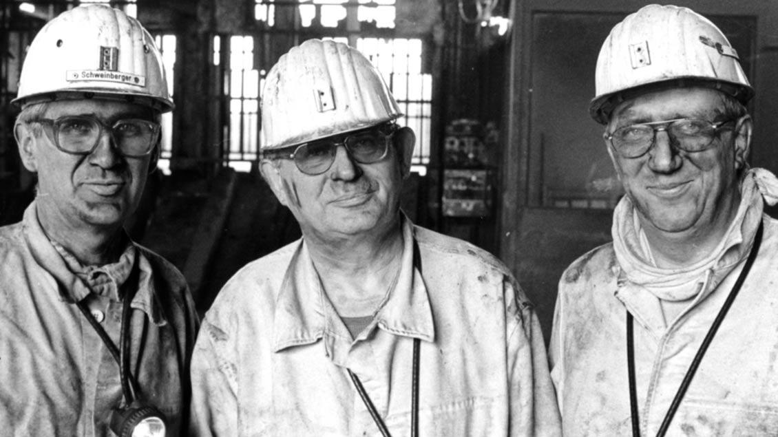 An der Seite der Arbeiter: Grubenfahrt mit Weihbischof Friedrich Ostermann.