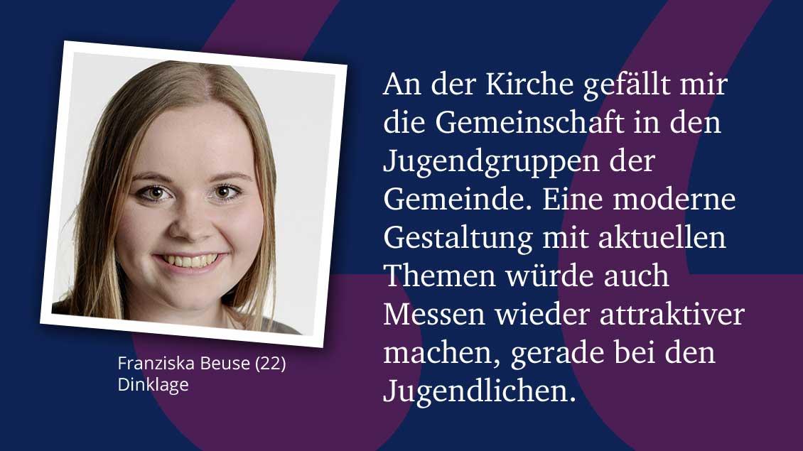 Franziska Beuse (22), Dinklage.