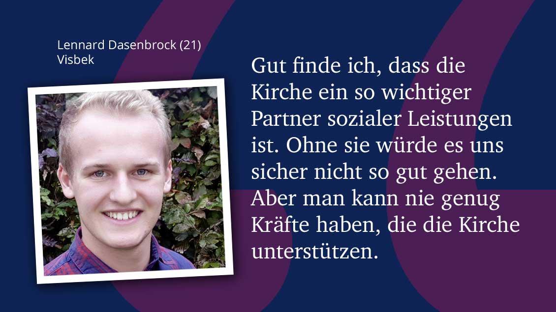 Lennard Dasenbrock (21), Visbek.