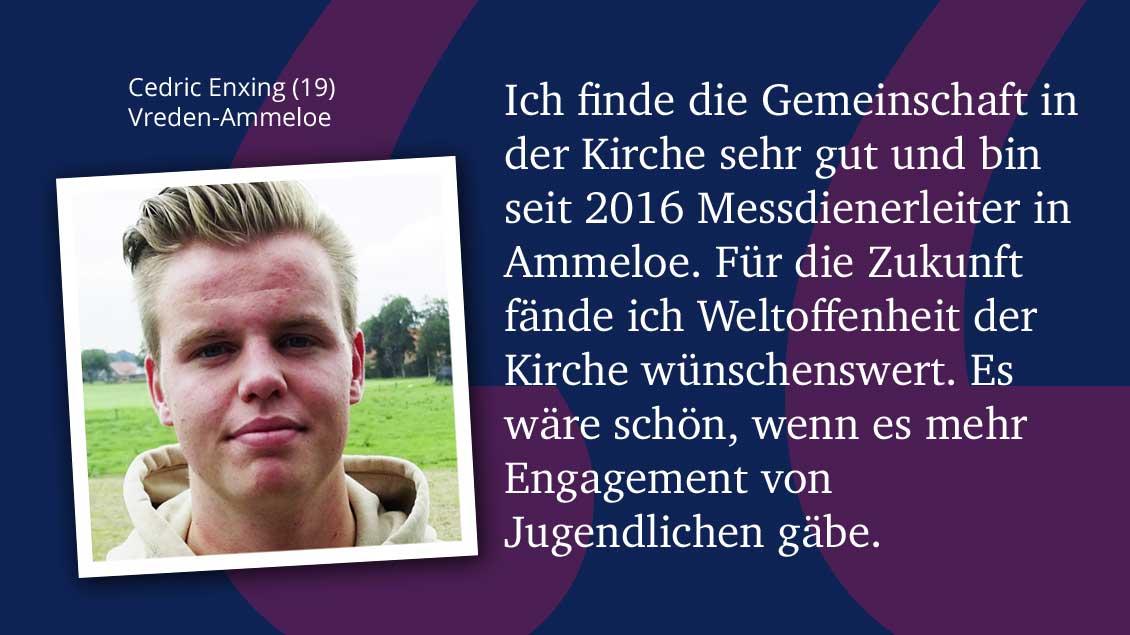 Cedric Enxing (19), Vreden-Ammeloe.