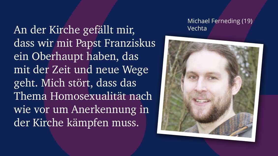Michael Ferneding (19), Vechta.