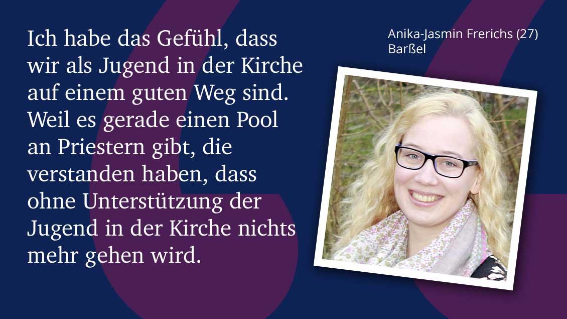 Anika-Jasmin Frerichs (27) Barßel.