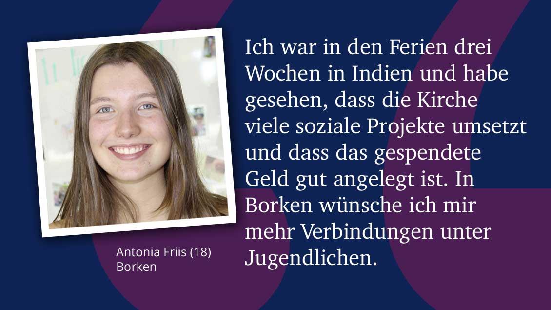 Antonia Friis (18), Borken.