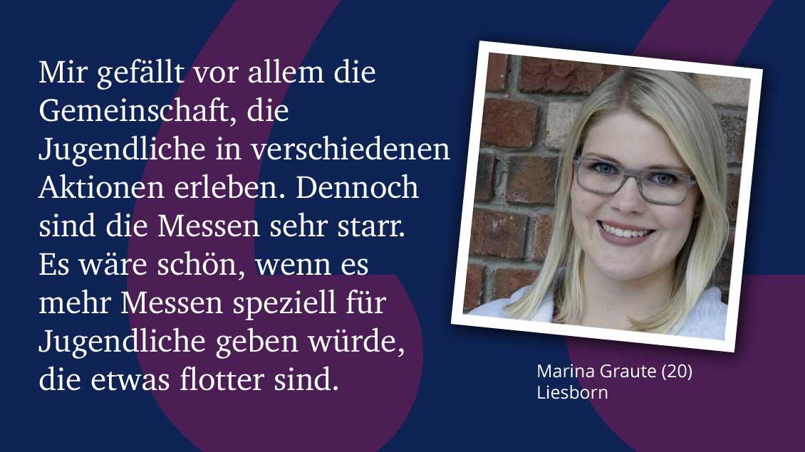 Marina Graute (20), Liesborn.