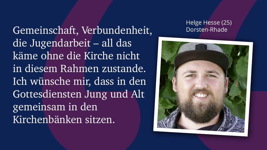 Helge Hesse (25), Dorsten-Rhade.