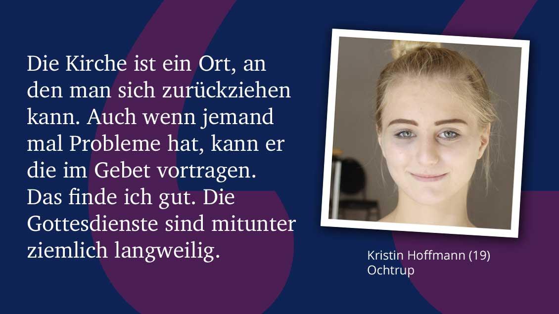 Kristin Hoffmann (19), Ochtrup.