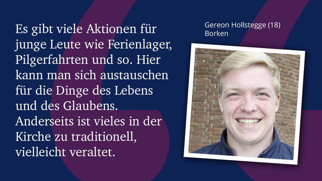 Gereon Hollstegge (18), Borken.