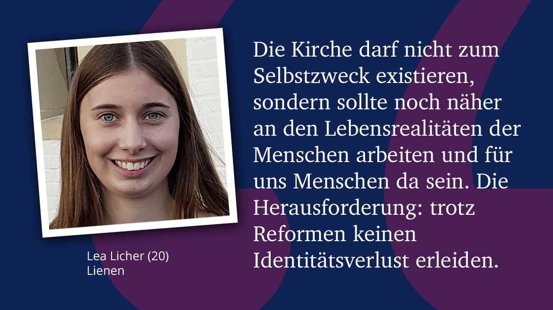 Lea Licher (20), Lienen.