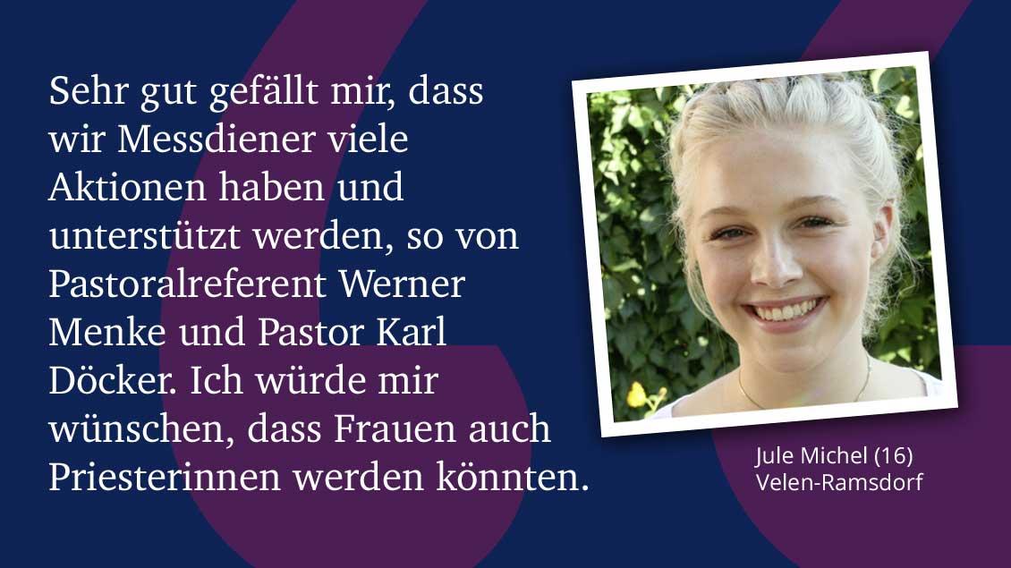 Jule Michel (16), Velen-Ramsdorf.