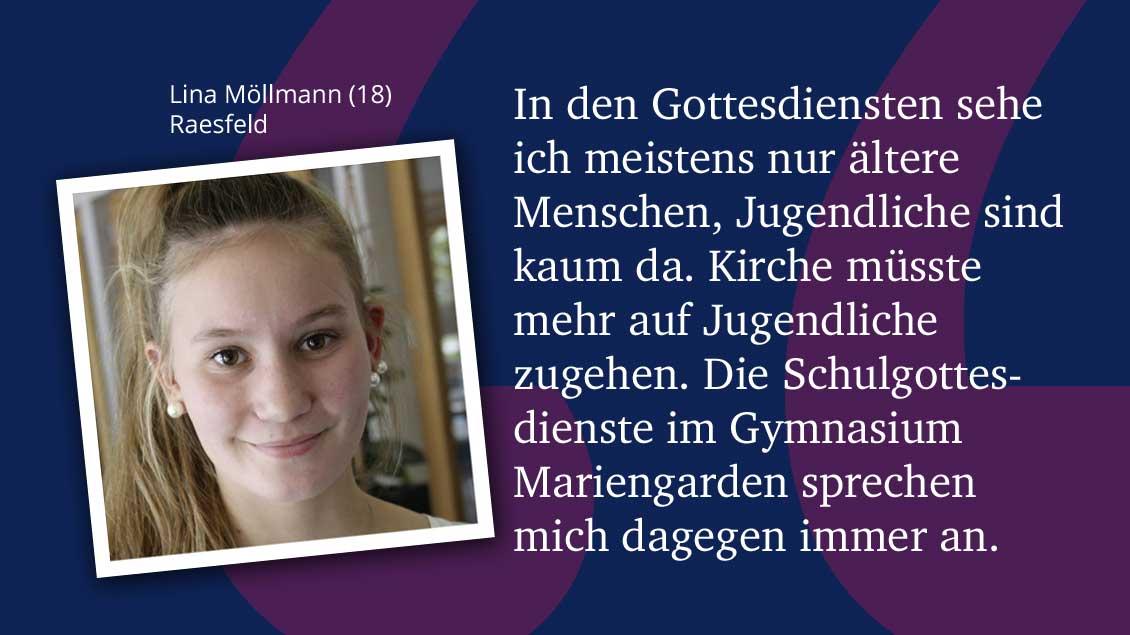 Lina Möllmann (18), Raesfeld.