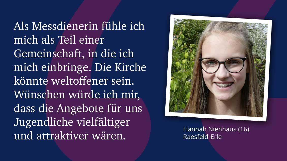 Hannah Nienhaus (16), Raesfeld-Erle.