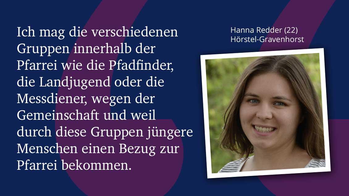 Hanna Redder (22), Hörstel-Gravenhorst.