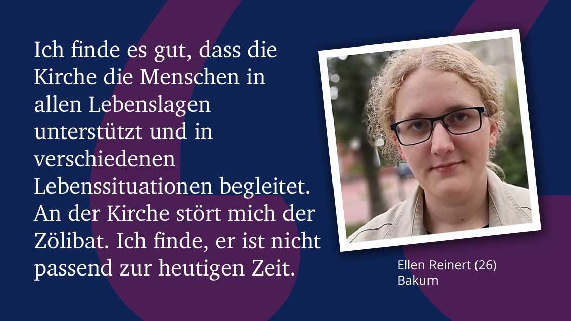 Ellen Reinert (26), Bakum.