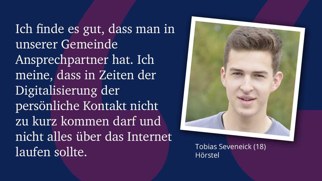 Tobias Seveneick (18), Hörstel.