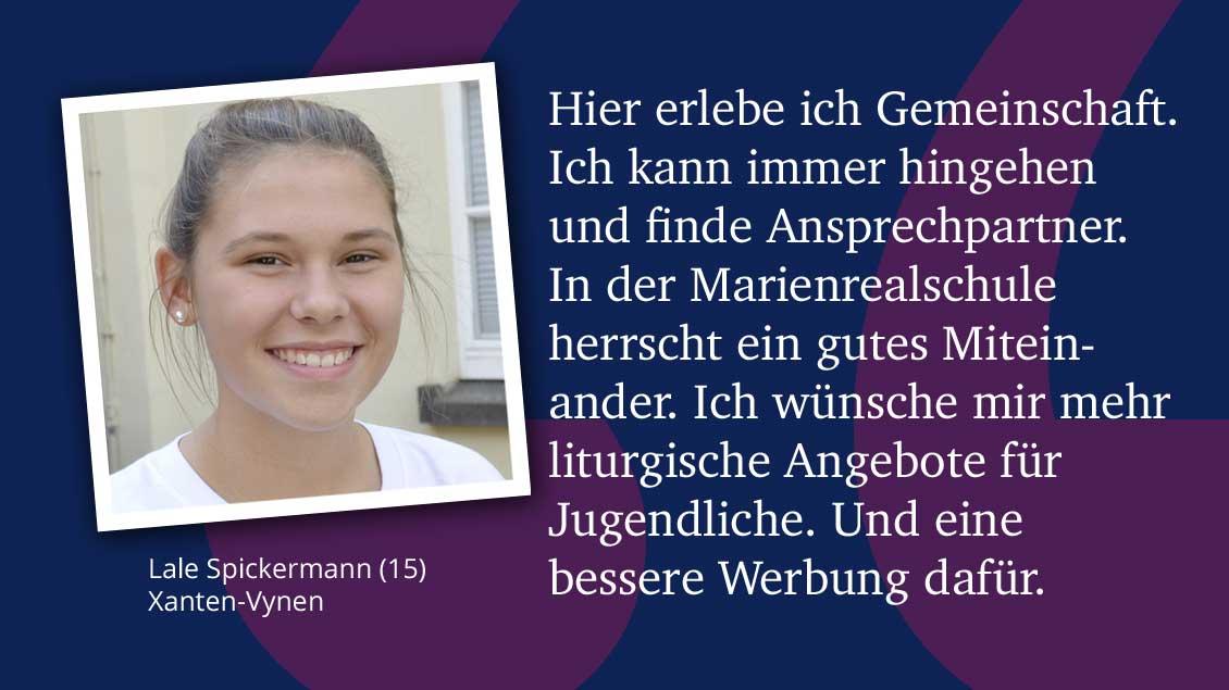 Lale Spickermann (15), Xanten-Vynen.