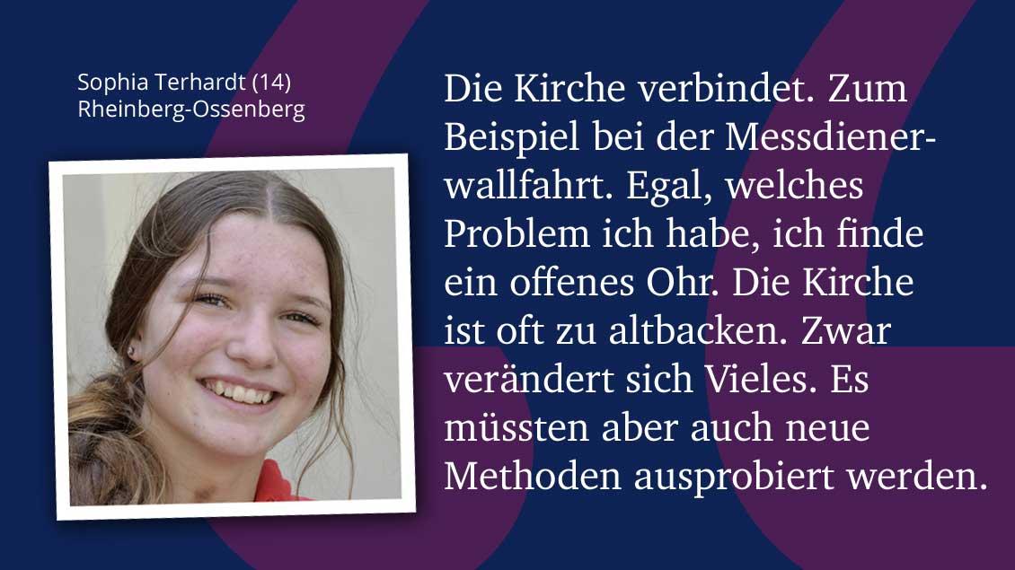 Sophia Terhardt (14), Rheinberg-Ossenberg.