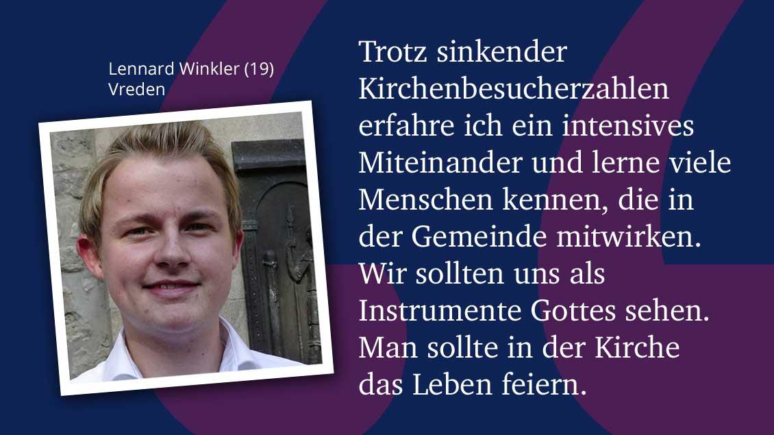 Lennard Winkler (19), Vreden.
