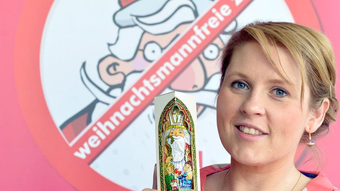 """Die Sängerin Maite Kelly unterstützt die Aktion """"Weihnachtsmannfreie Zone"""" schon seit längerem."""
