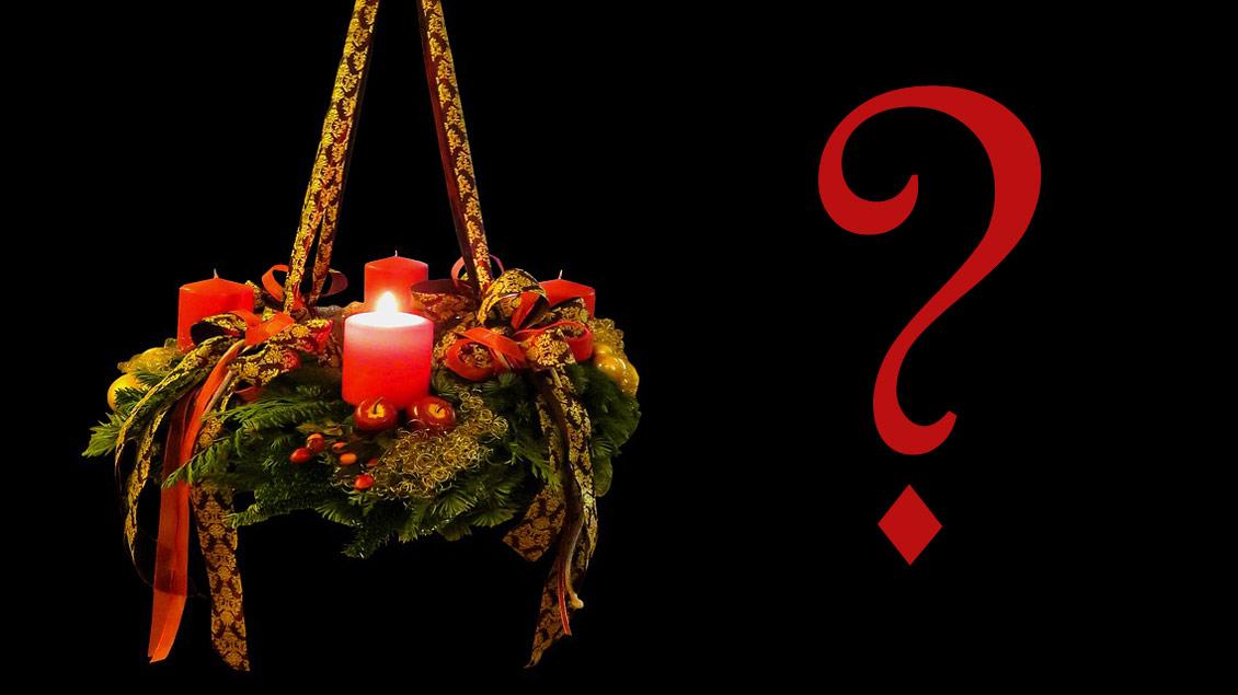Welche Farbe haben die Gewänder im Gottesdienst während des Advents? Welcher der vier Sonntage hat einen besonderen Namen? Zwei von zwölf Fragen in unserem Advents-Quiz.