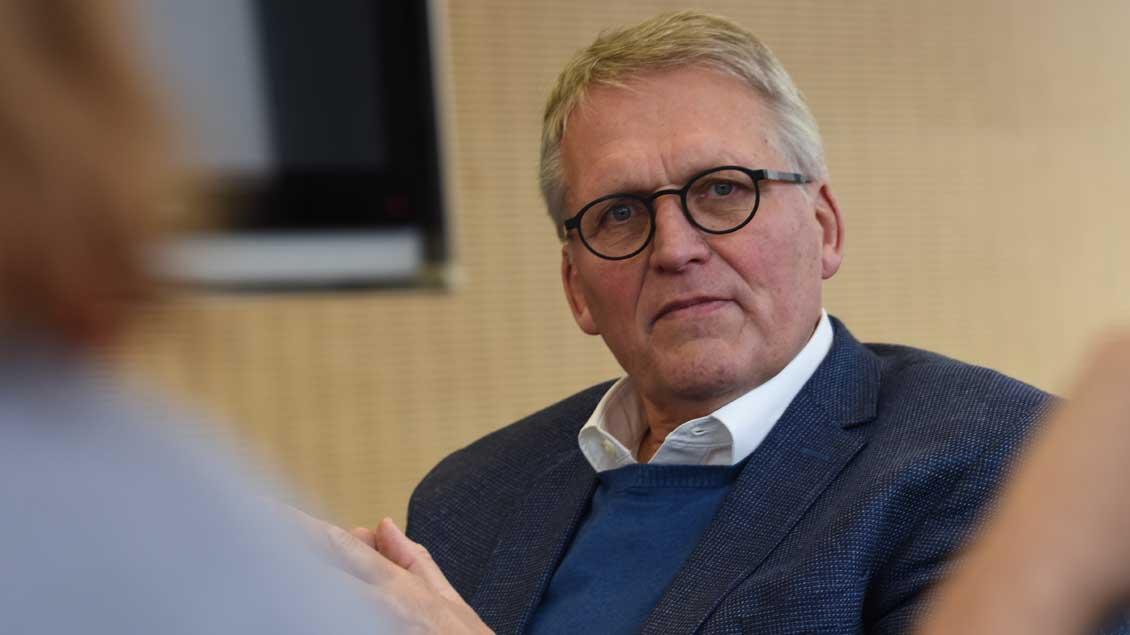 Thomas Sternberg beim Redaktionsbesuch.