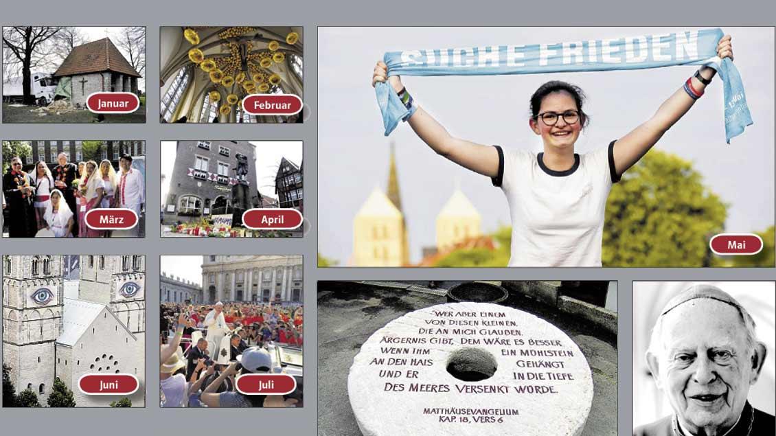 Fotocollage einiger prägender Ereignisse des Jahres.