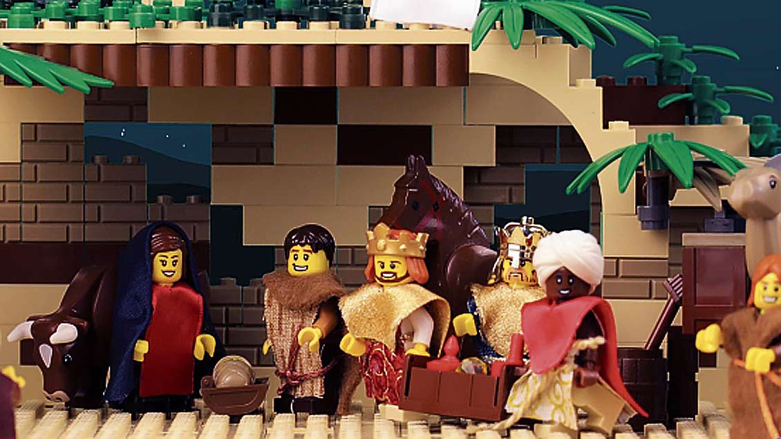 Weihnachtsszenen aus Lego