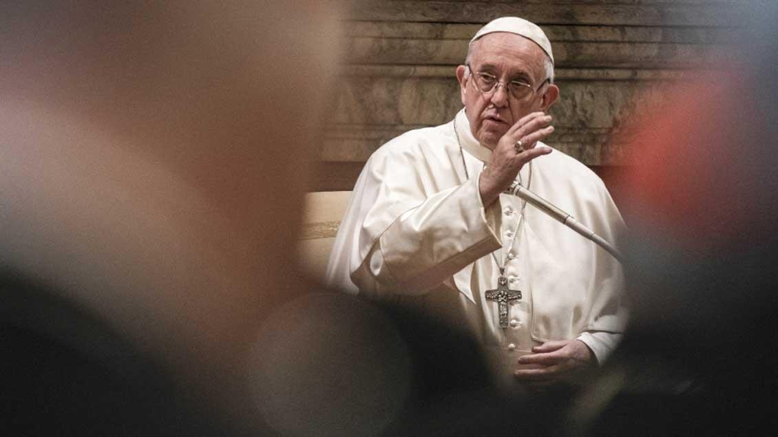 Papst Franziskus bei seiner Weihnachtsansprache.