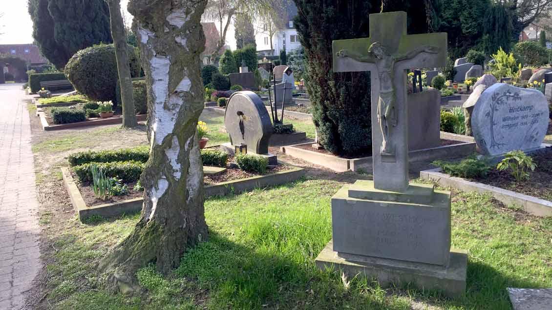 Auf einem Friedhof Symbolfoto: Markus Nolte