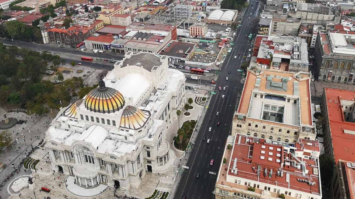 Mexiko-Stadt von oben.