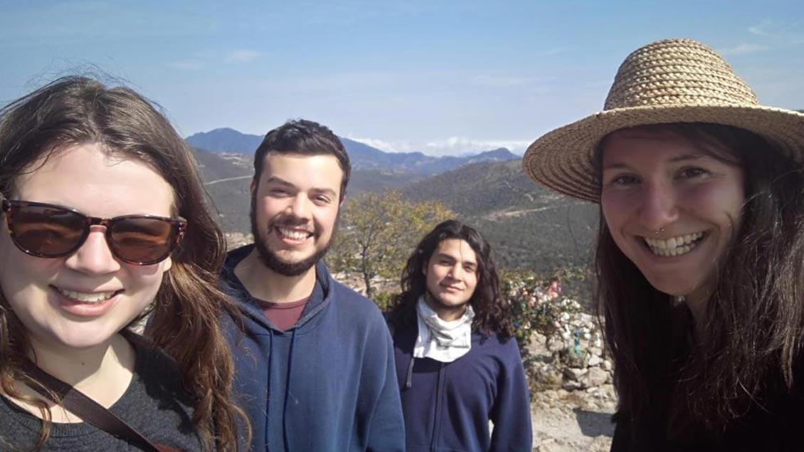 Ausflug von Theresa und Julia aus Münster mit ihren Gastbrüdern Diego und Sebastian in 3000 Höhenmetern.