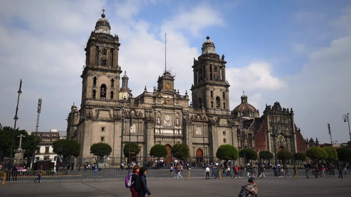 Die Kathedrale in Mexiko-Stadt.