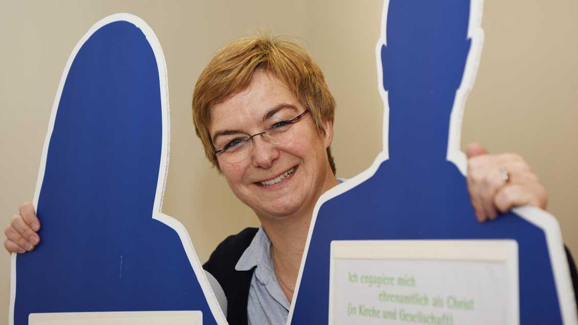 Lisa Rotert freut sich als neue Geschäftsführerin des Diözesankomitees auf die Zusammenarbeit mit vielen Menschen.