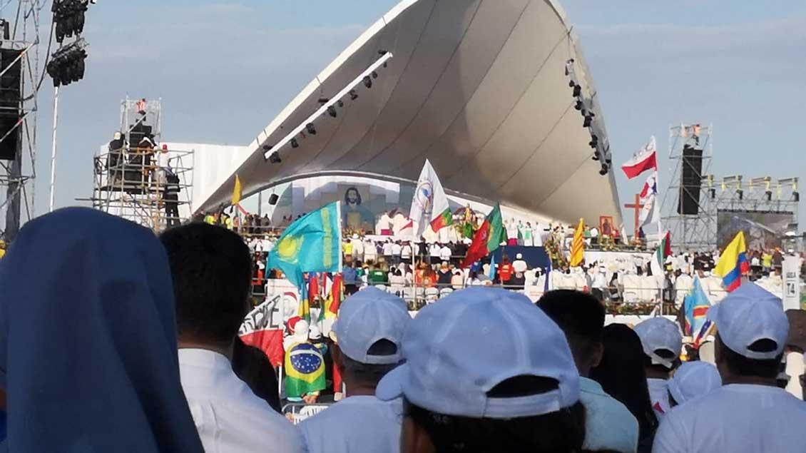 Abschlussgottesdienst des Weltjugendtags in Panama.