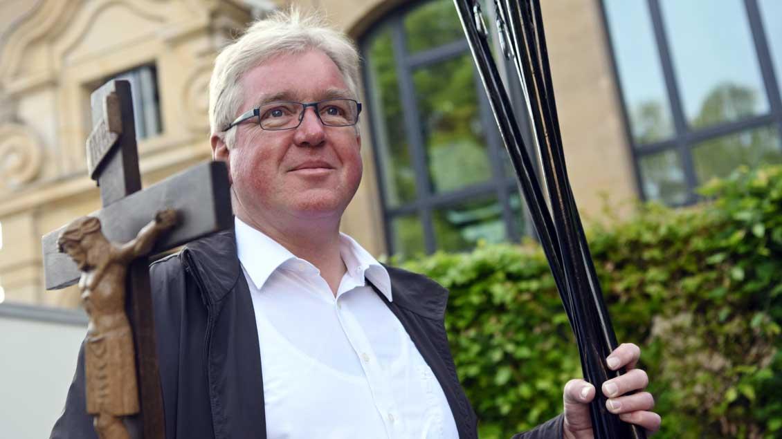 Pfarrer Hans-Werner Dierkes auf Wallfahrt.