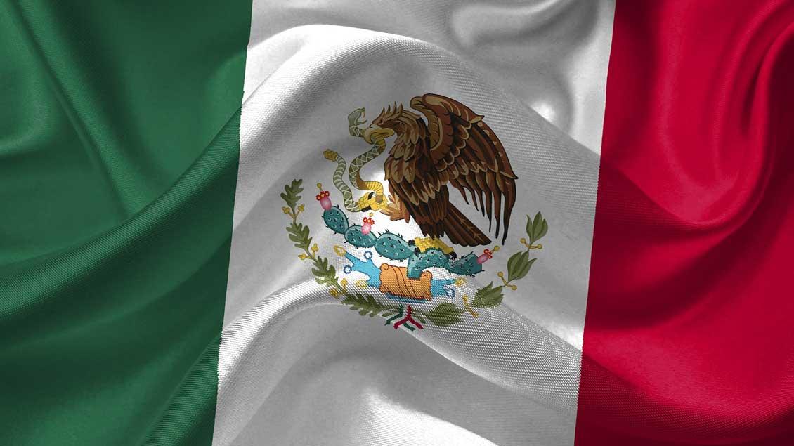 Fahne von Mexiko.