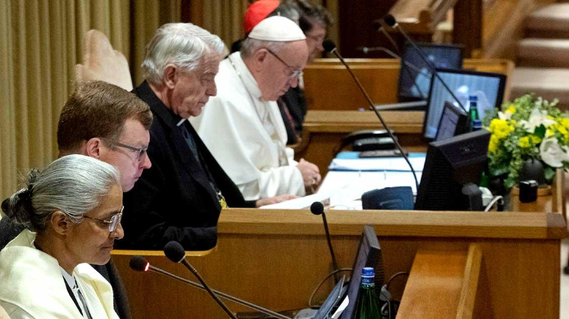 Beim Anti-Missbrauchsgipfel Foto: Vatican Media via Reuters