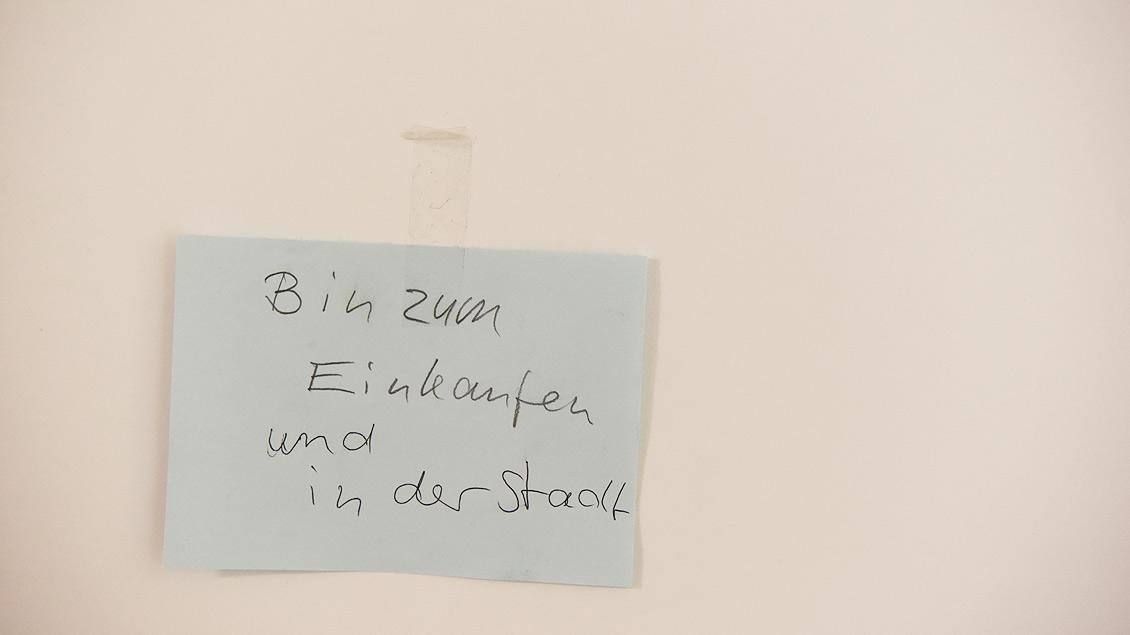 Kurze Information für die Mitbewohner. | Foto: Michael Bönte