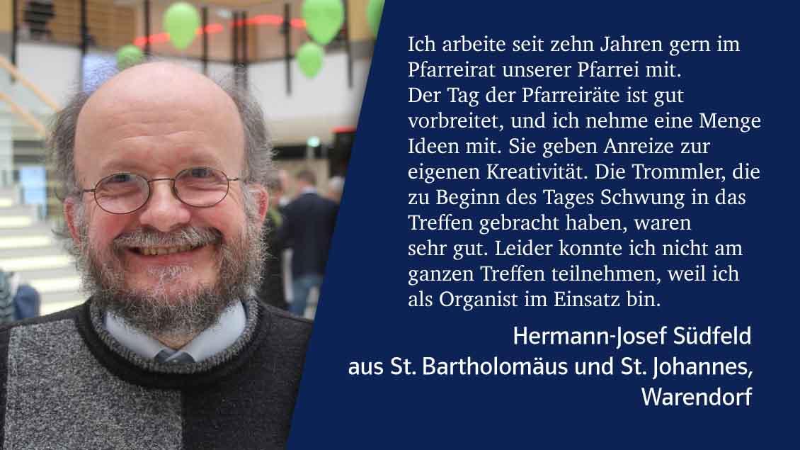 Eindrücke vom Tag der Pfarreiräte des Bistums Münster 2019 in der Halle Münsterland, Münster.