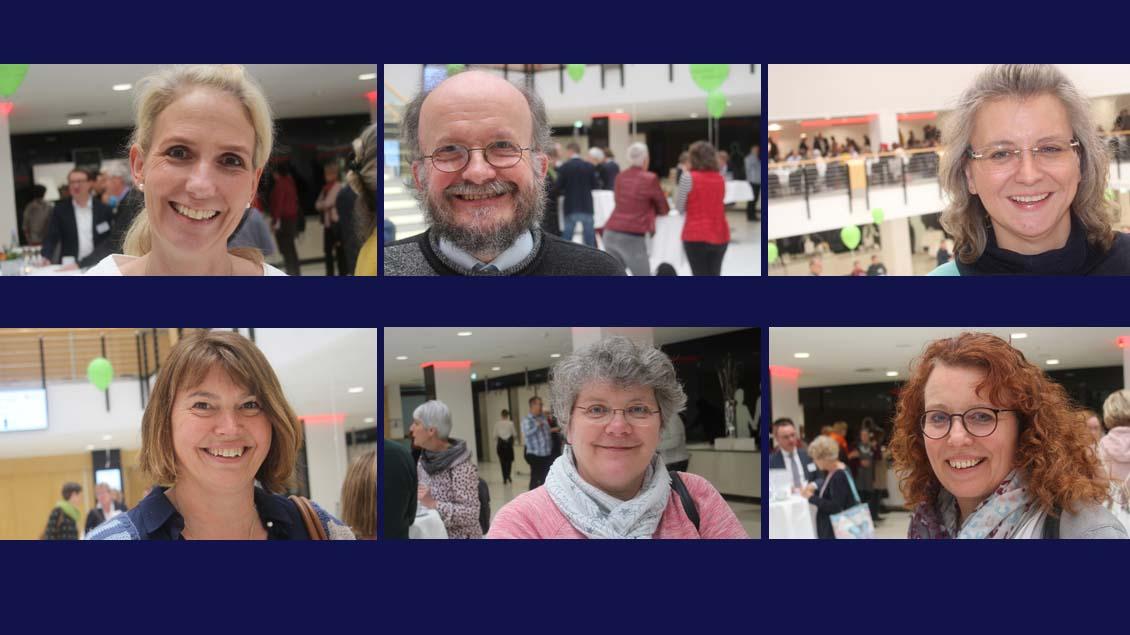 Sechs Eindrücke vom Tag der Pfarreiräte des Bistums Münster 2019 in der Halle Münsterland, Münster.