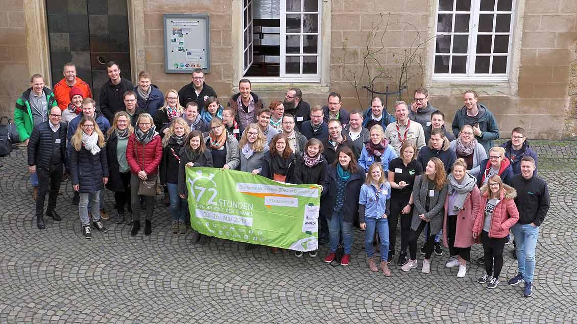 Der BDKJ der Diözese Münster auf der Jugendburg Gemen in Borken. Foto: BDKJ Diözese Münster