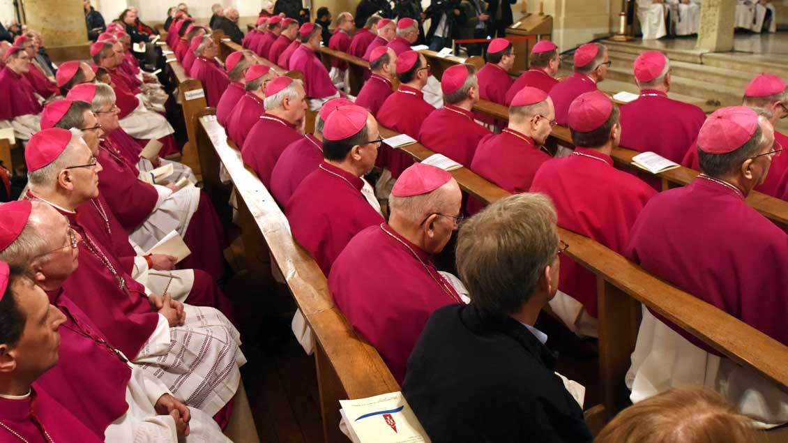 Bischöfe während der Vollversammlung der Deutschen Bischofskonferenz in Lingen.
