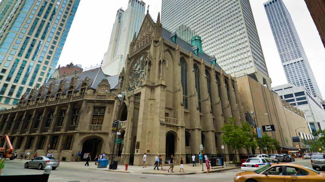 "Kathedrale ""Holy Name"" in Chicago Foto: Jonas J (Shutterstock)"