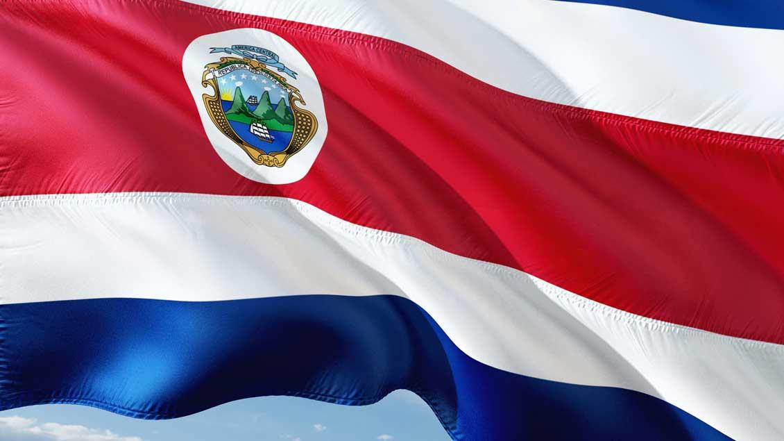 Die Fahne von Costa Rica.
