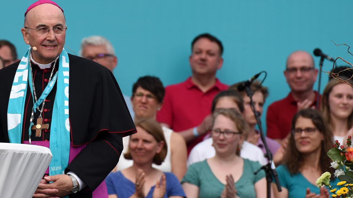 Eröffnungsfeier des Katholikentags mit Bischof Felix Genn.