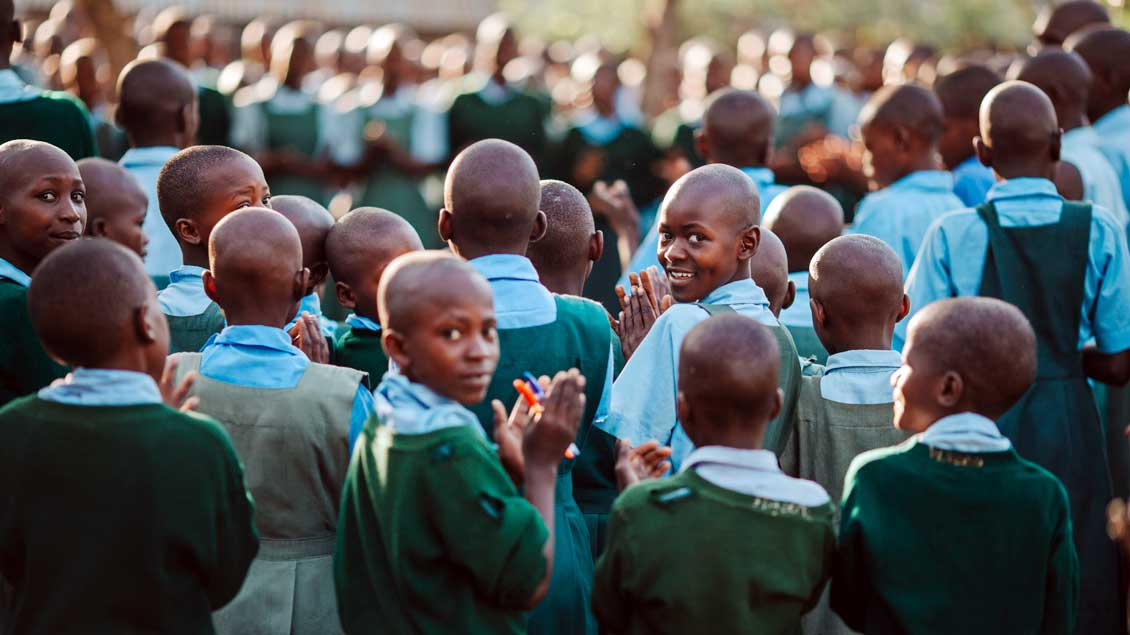 Schüler in Kenia