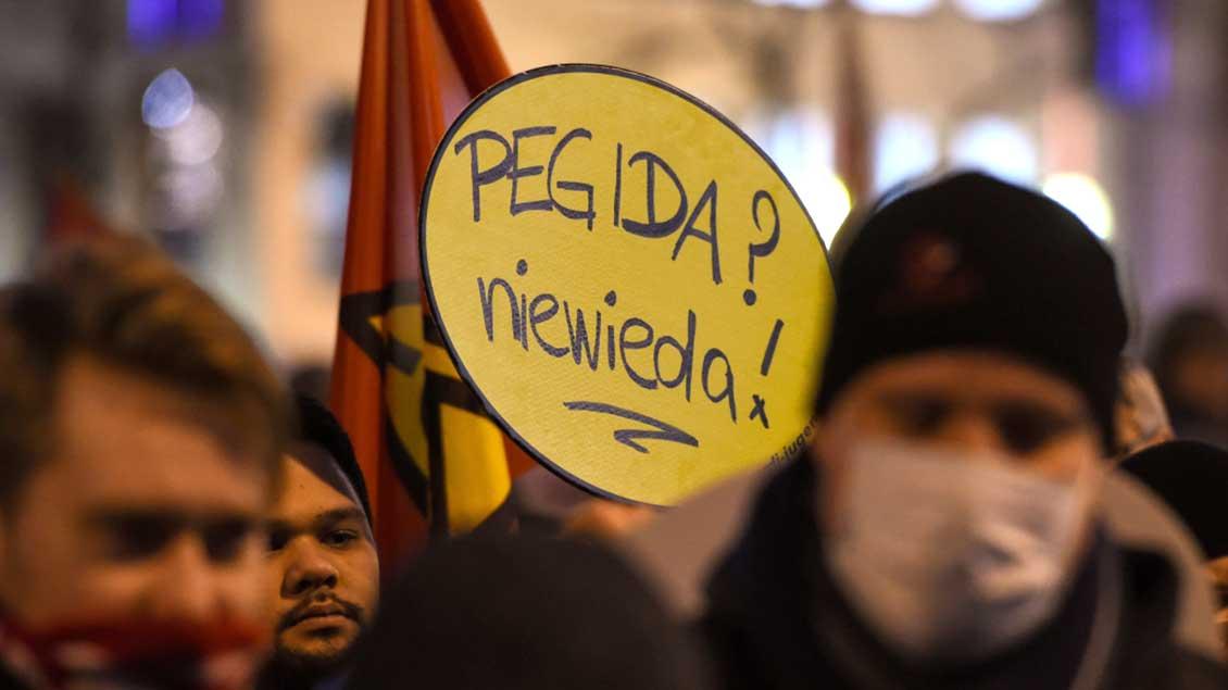 Gegendemonstration gegen Populisten