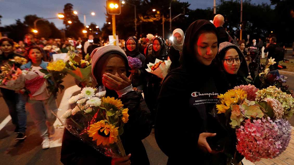 Trauer und Sorge nach Christchurch-Anschlag