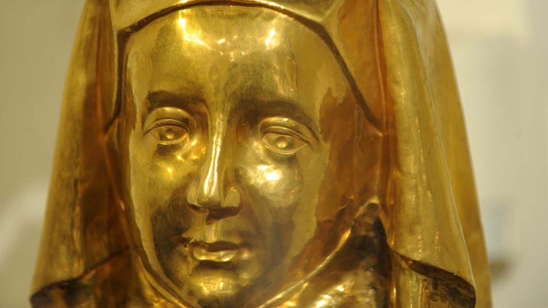 Kopf des Hauptreliquiars der heiligen Ida.