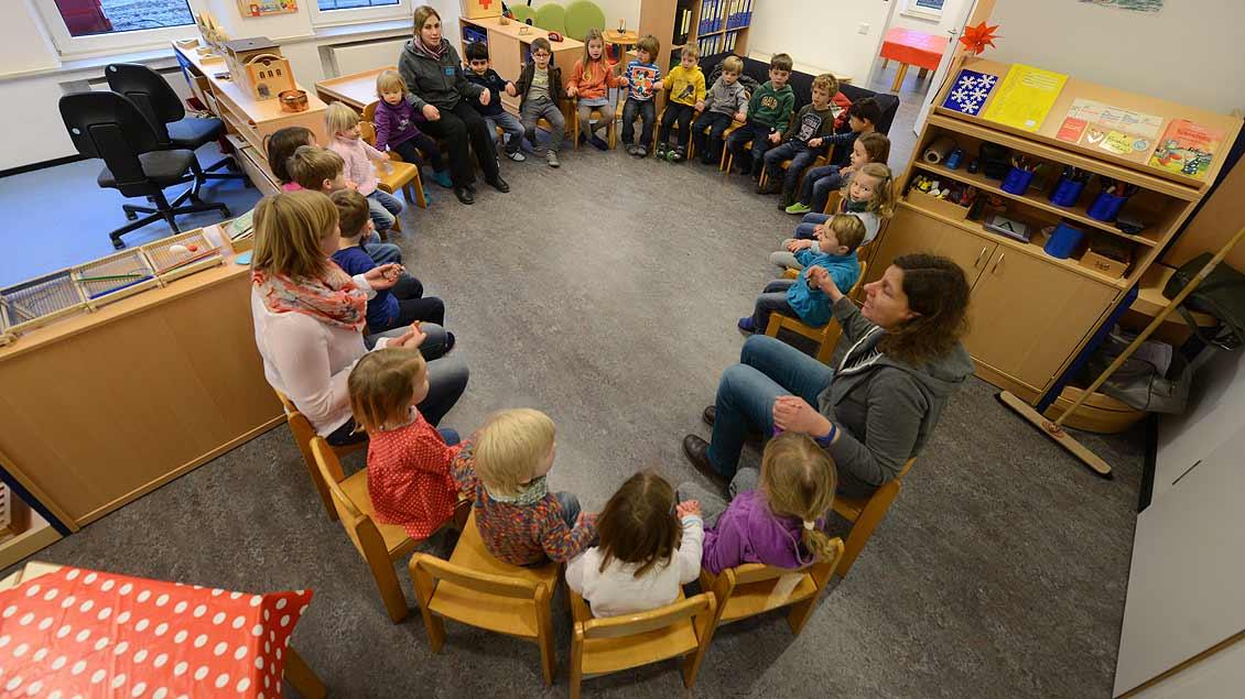 Kinder im Kindergarten Symbolfoto: Michael Bönte
